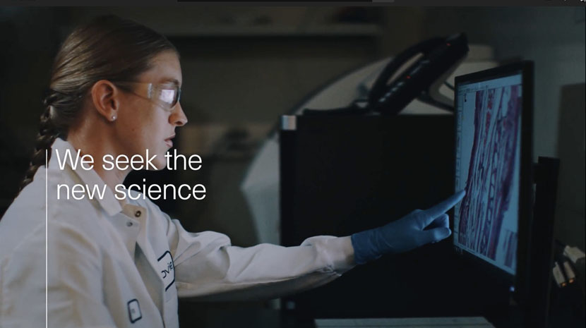 "AbbVie ""We Seek the New Science"" image."