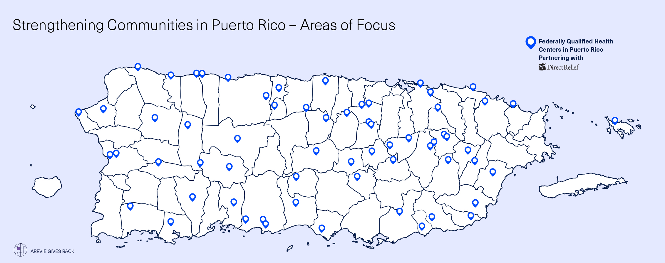 Direct Relief Puerto Rico relief map