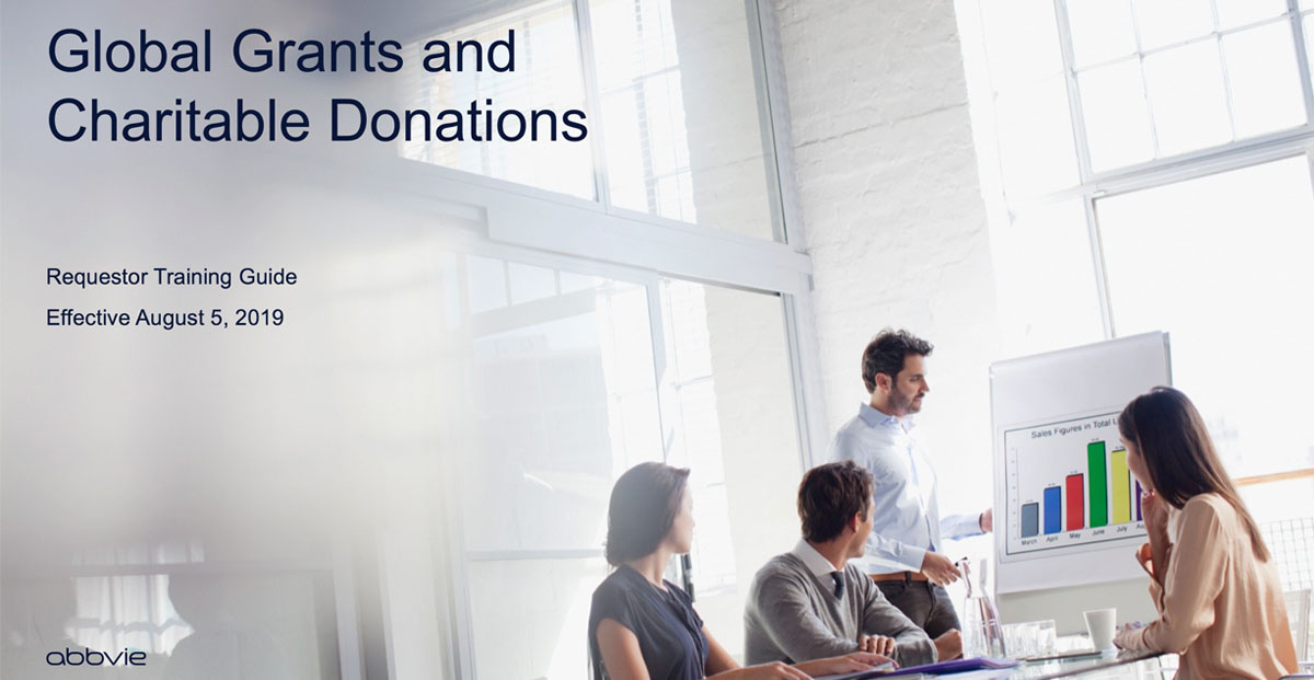 AbbVie Global Grants and Charitable Donations raining Guide cover photo