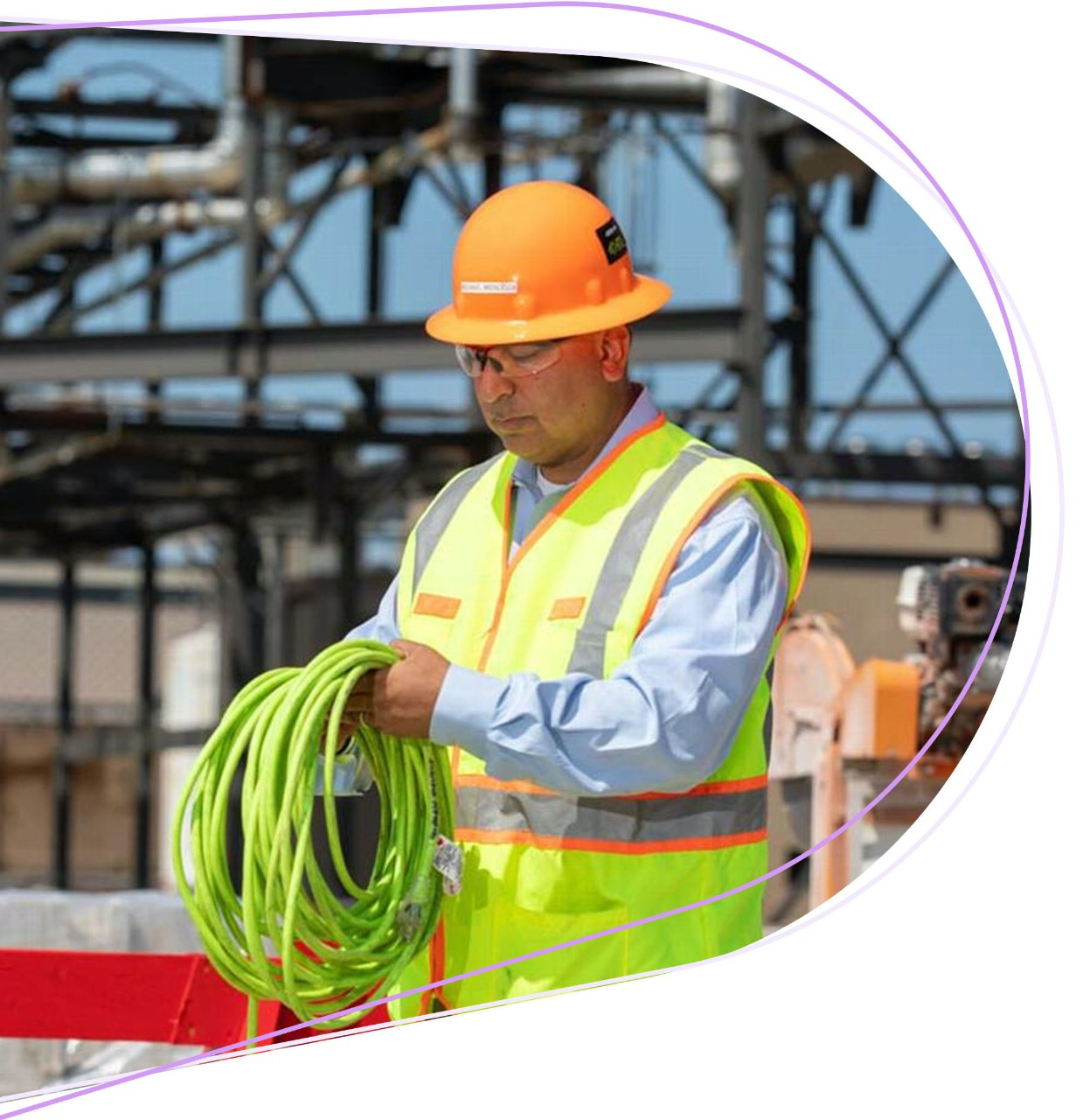 construction worker in protective equipment